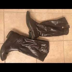 Brown riding boots size 10